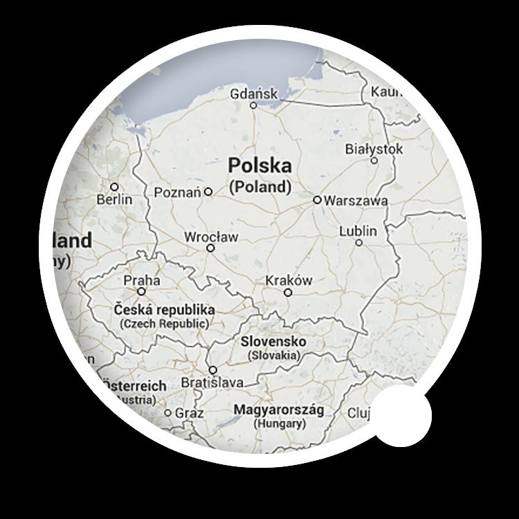Map: Nowy Sącz, Poland