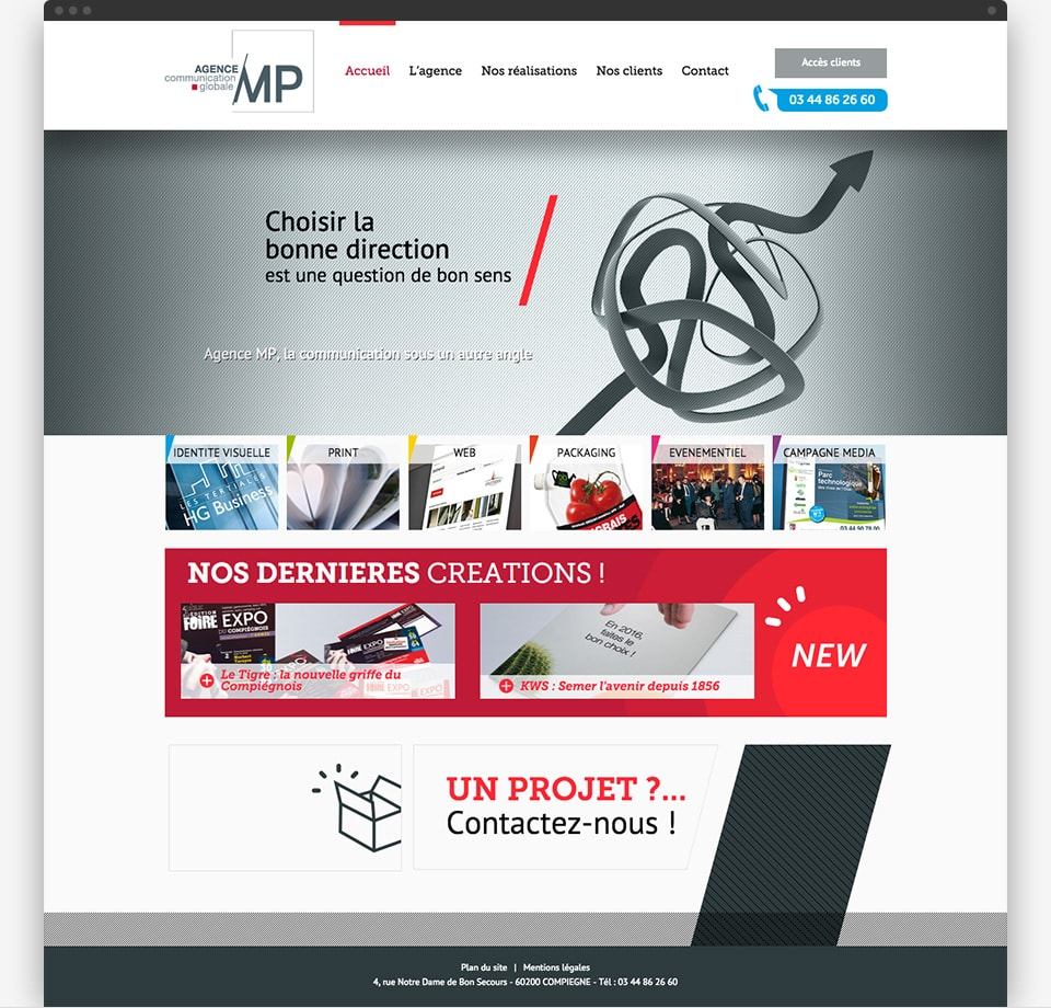 Agence MP home page