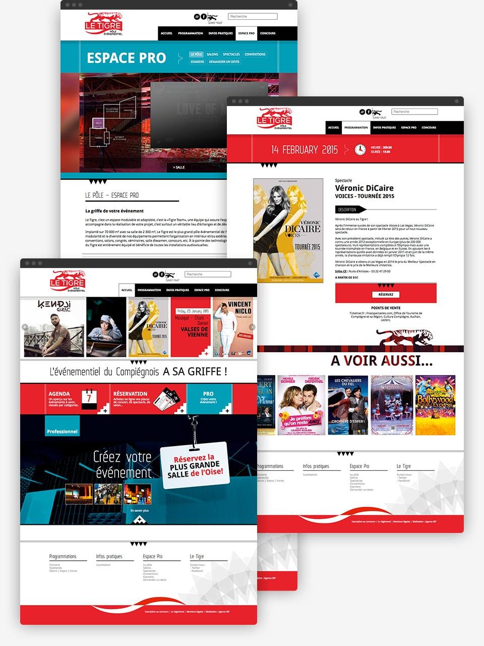Le Tigre website preview