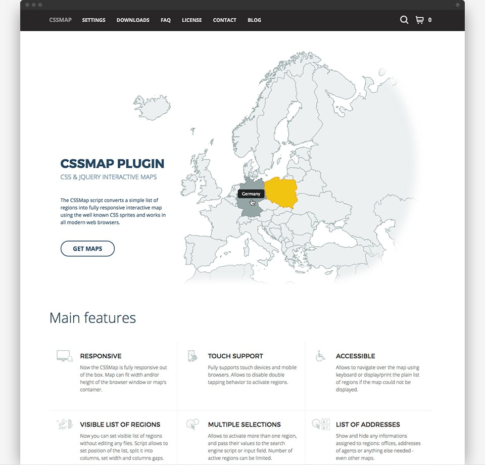 CSSMap plugin 2016 - home page