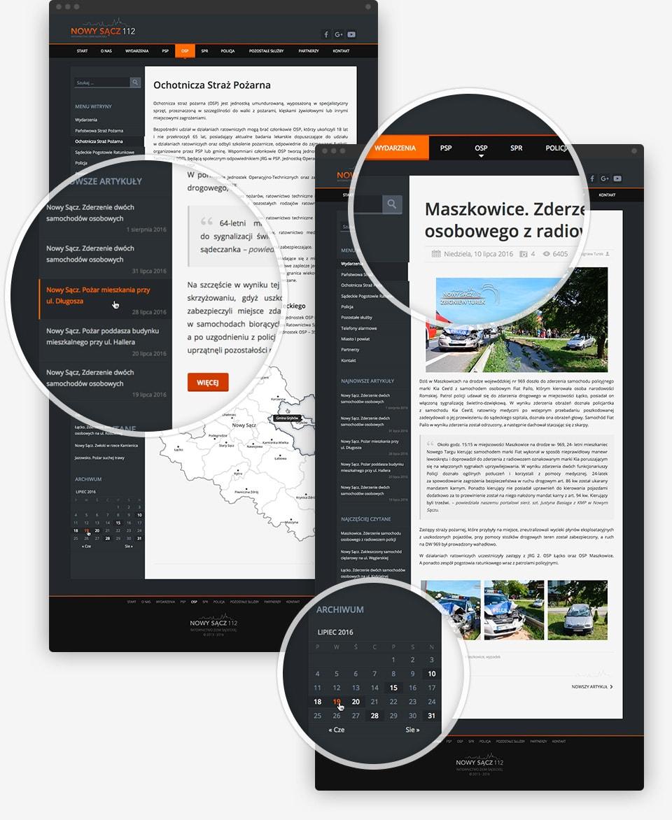 Nowy Sącz 112 - page details