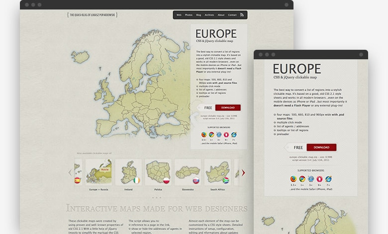 test -CSS & jQuery clickable maps thumbnail