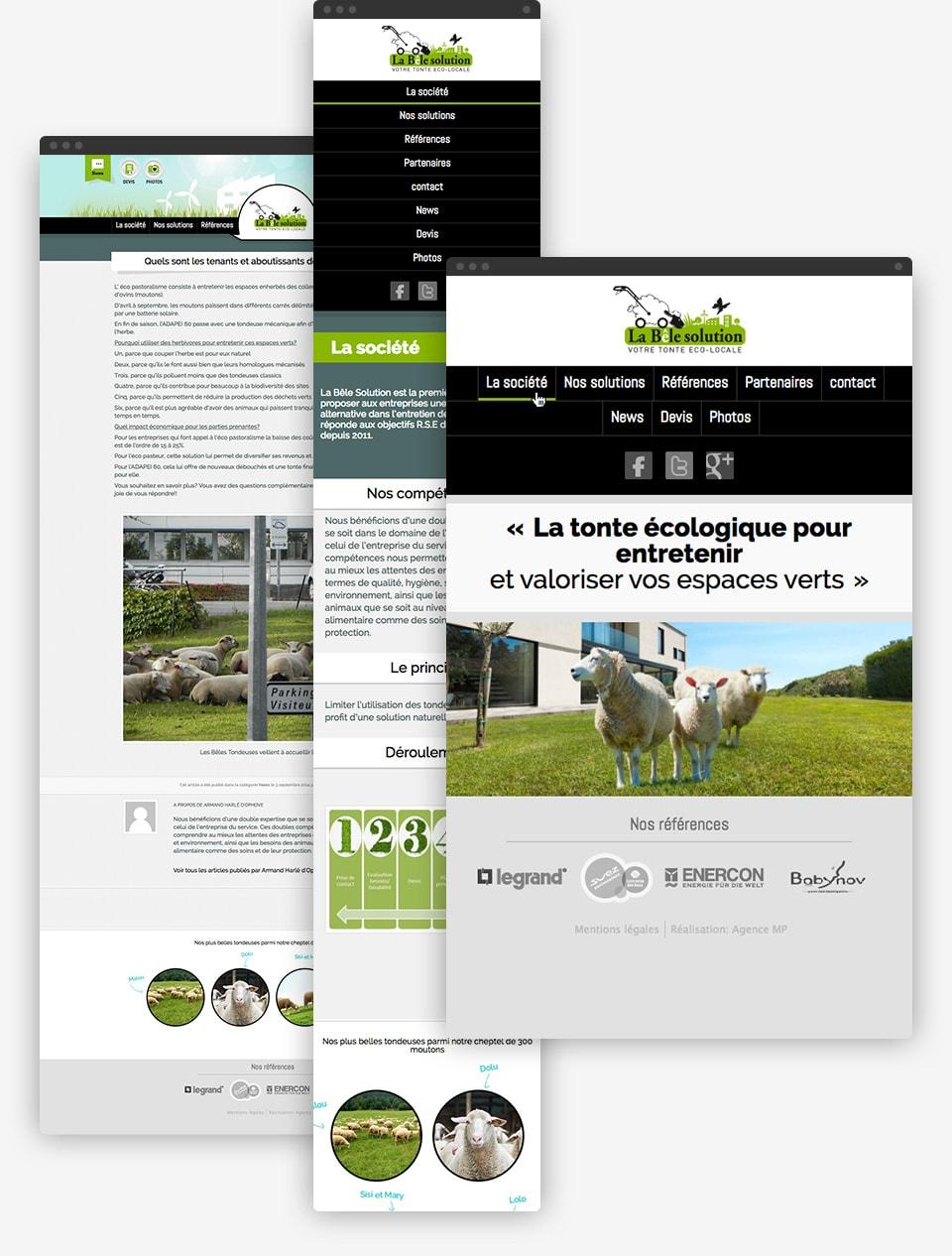 La Bêle Solution website preview
